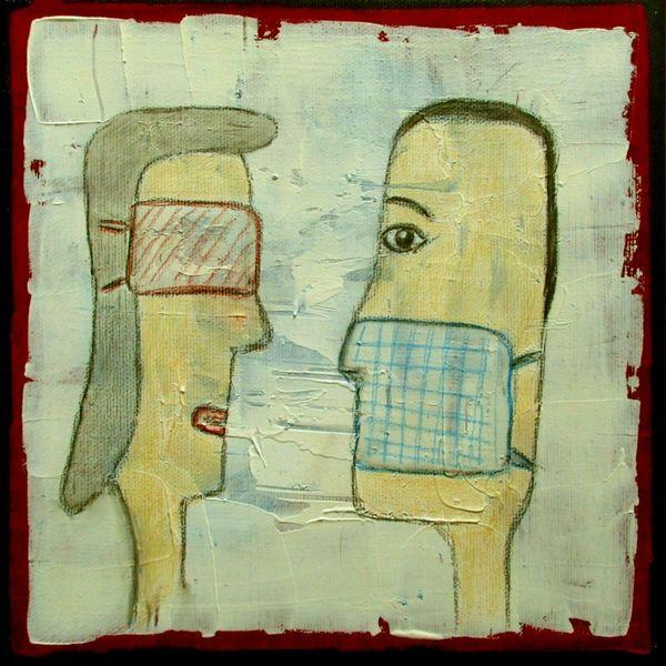 Maske, Kopf, Person, Dialog, Malerei
