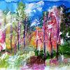 Natur, Abstrakt, Tuschezeichnung, Landschaft