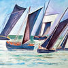 See, Segelboot, Aquarellmalerei, Aquarell