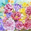 Dekoration, Stillleben, Aquarellmalerei, Blumenmalerei