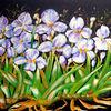 Blumen, Stillleben, Acrylmalerei, Schwertlilien