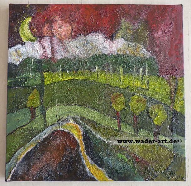 Landschaft, Inchie, Struktur, Expressionismus, Malerei