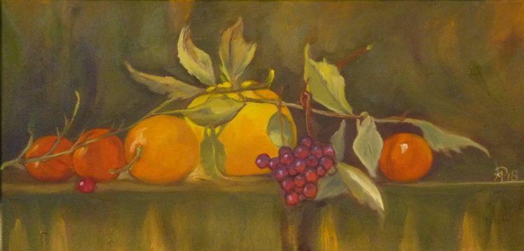 Grün, Gelb, Früchte, Rot, Obst, Malerei