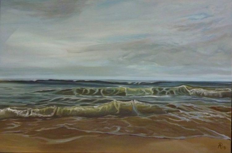 Nordsee, Strand, Welle, Wasser, Himmel, Landschaft