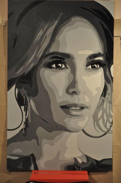 Jennifer lopez, Acrylmalerei, Portrait, Malerei