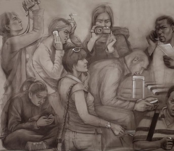 Wandmalerei, Raum, Realismus, Fragment, Technik, Portrait