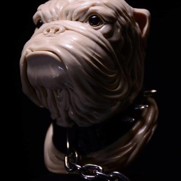 Hund, Skulptur, Schnitzkunst, Holz, Kunsthandwerk,