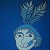 Mann, Pinsel, Indianer, Portrait