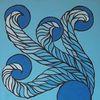 Locken, Zusammen, Blau, Mitte