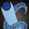 Malerei, Schlange, Blau, Gemälde