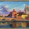 Steinerne brücke, Donau, Regensburg, Malerei