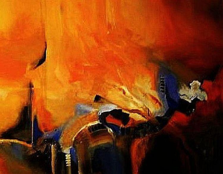 Malerei, Abstrakt, Ausschnitt, Harmonie