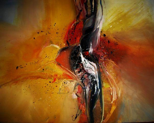 Abstrakt, Malerei, Dynamik,