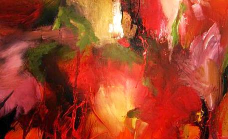 Abstrakt, Herbst, Blumen, Malerei,