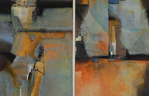 Abstrakt, Acrylmalerei, Blau, Malerei,