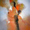 Blumen, Acryl auf leinwand, Abstrakt, Malerei