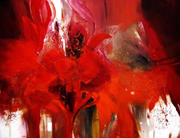 Abstrakt, Blumen, Malerei, Dynamik