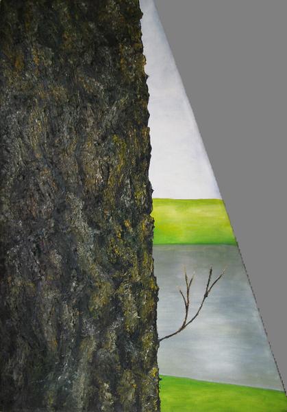 Baum, Naturalistisch, Alte liebe, Sonderformat, Malerei,