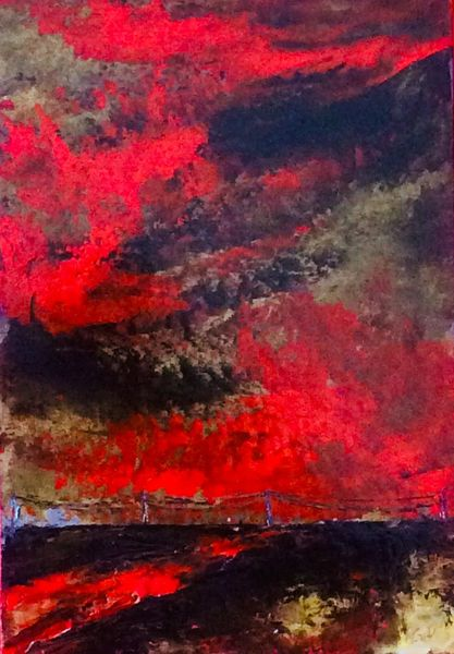 Spachtel, Technik, Ölmalerei, Malerei, Öl gemälde