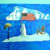 Flagge, Skalp, Eisbär, Skelett