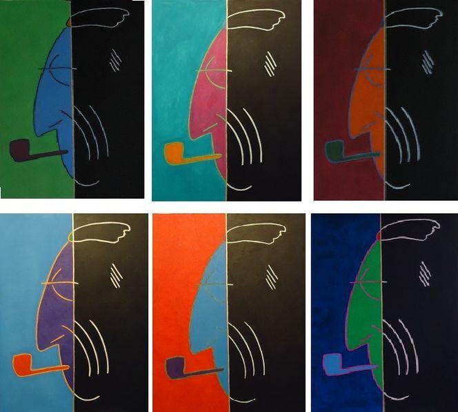 Hallescher maler, Malerei, Pop art, Graf, Ansichtssache luckner, Halle saale