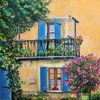 Balkon, Südfrankreich, Fassade, Malerei