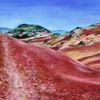 Landschaft, Rote erde, Salagou, Malerei