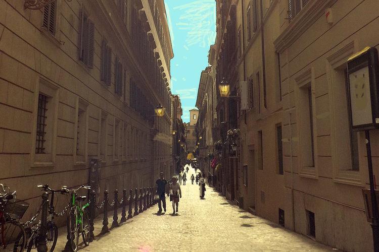 Straßenschlucht, Rue, Outsider art, Schlucht, Rom, Straße