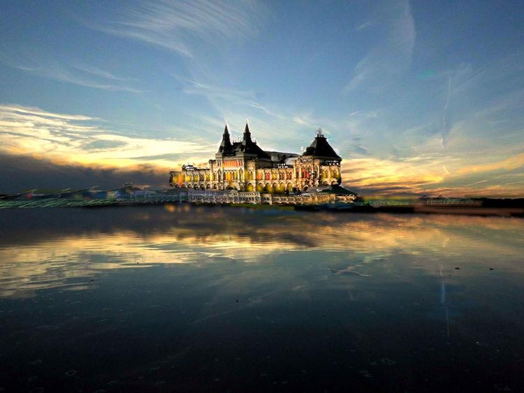 Schloss, Burg, Meer, Outsider art, Digitale kunst, Digital