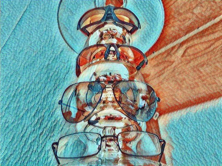 Outsider art, Brille, Spiegelung, Sonnenbrillen, Spiegel, Digitale kunst