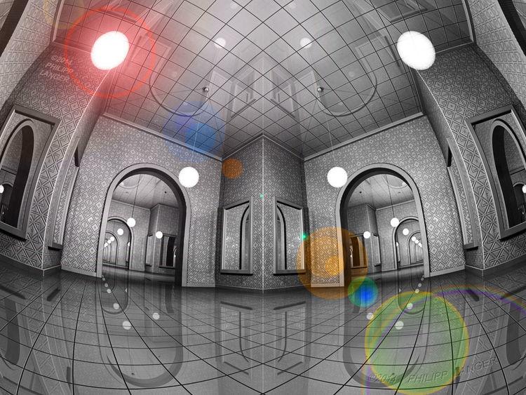 Decke, Raum, Symmetrie, Weitwinkel, Froschperspektive, Linsenreflex