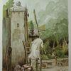 Windmühle, Fantasie, Landschaft, Stuhl