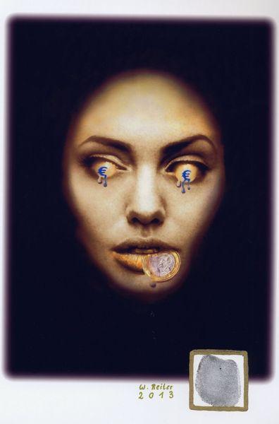 Euro, Gesicht, Digitale kunst, 2013