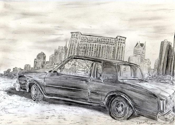 Wirtschafstskrise, Auto, Detroit, Buick regal, Wolkenkratzer, Amerika