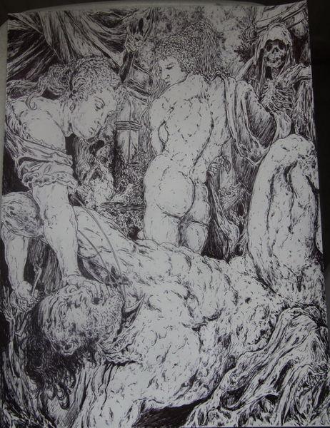 Anatomie, Akt, Bibel, Skelett, Rubens, Horror