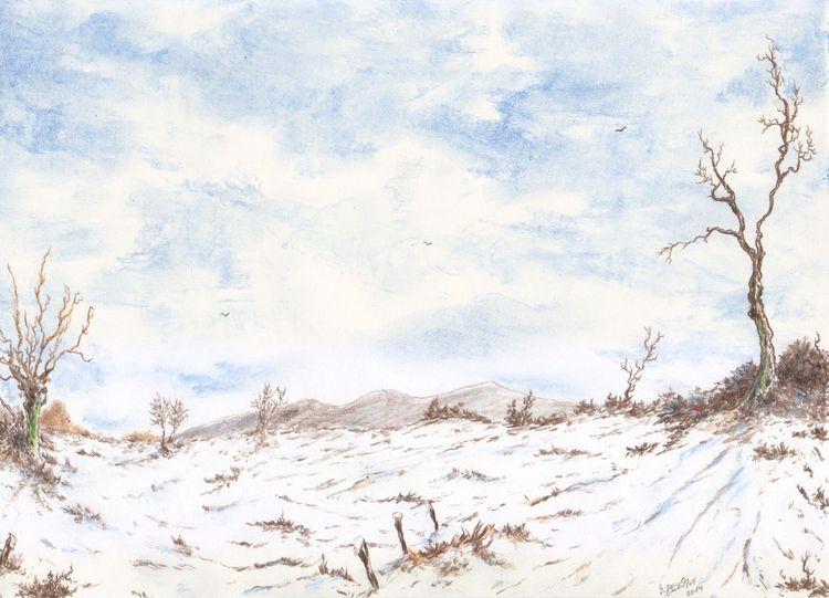 Winter, Berge, Schnee, Baum, Romantik, Winterlandschaft