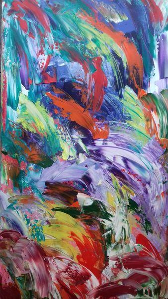 Frühling, Bunt, Abstrakt, Malerei, Frost