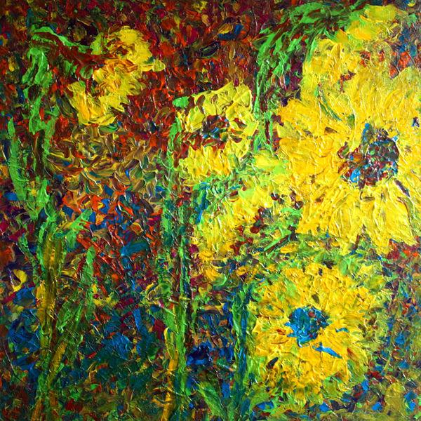 bild malerei pflanzen sonnenblumen von tobiashel bei kunstnet. Black Bedroom Furniture Sets. Home Design Ideas