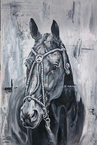 Polo, Polosport, Pony, Pferde, Malerei,