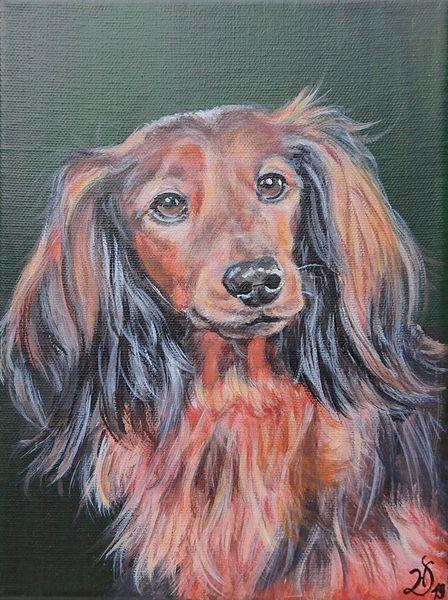 Hund, Dackel, Malerei