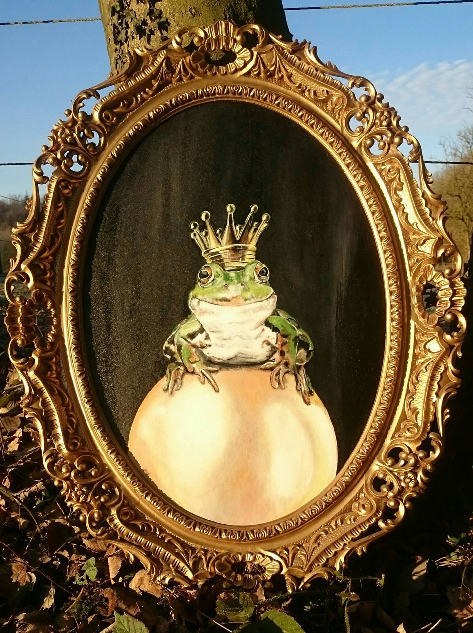 froschkönig  gold krone frosch kugel von heike