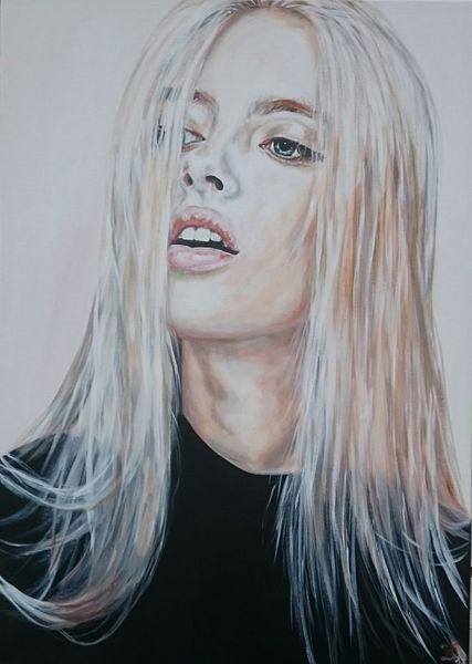 Haare, Frau, Model, Blond, Malerei