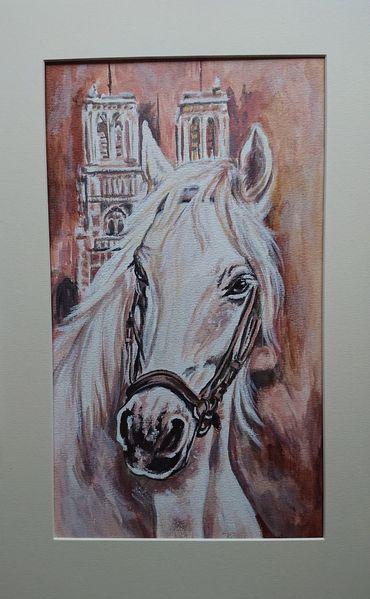 Pferde, Schimmel, Turm, Malerei