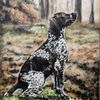 Jagdhund, Hund, Wald, Malerei