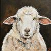 Bauernhof, Portrait, Schaf, Malerei