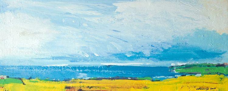 Licht, Landschaft, Silhouette, Blau, Grün, Elbe