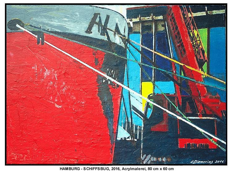 Verkehr, Gemälde, Wetter, Moderne kunst, Deutschland, Farben
