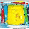 Acrylmalerei, Hafen, Blau, Grün