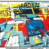 HAFENIMPRESSION BURCHARDKAI - burchardkai, waldrand, türkis, blume, struktur, collage, plakate, speicherstadt, werft, horizonte, hafen hamburg, poster, kunstdrucke, elbe, landschaft, technik, rot, gelb, blau, grün,
