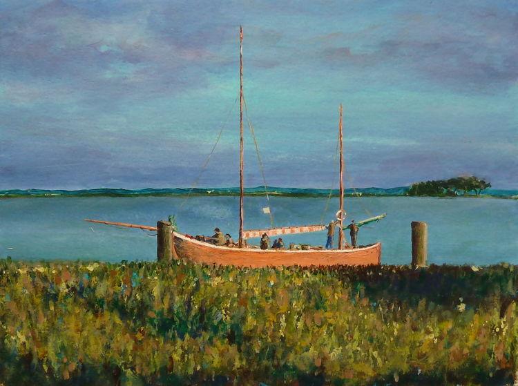 Prerow, Wasser, Segel, Boot, Impressionismus, Wind